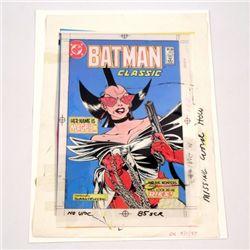 Batman Classic #401 Nov 1986 John Byrne Art Book Cover 4-Color proof