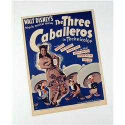 Disney 3 Caballeros Window Card Original 1943