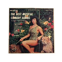 """Bettie Page """"Best Musical Song"""" Album Cover & Record Photographed by Bunny Yeager"""