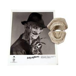 Nightmare On Elm Street 5 Freddy Krueger (Robert Englund) Full Teeth Mold And Photo