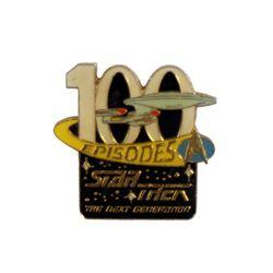Star Trek Next Generation Official 100 Episode Cast & Crew Pin