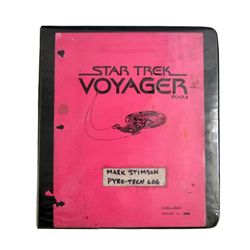 Star Trek Voyager & Next Generation Special Effects Pyro Technician Log Book