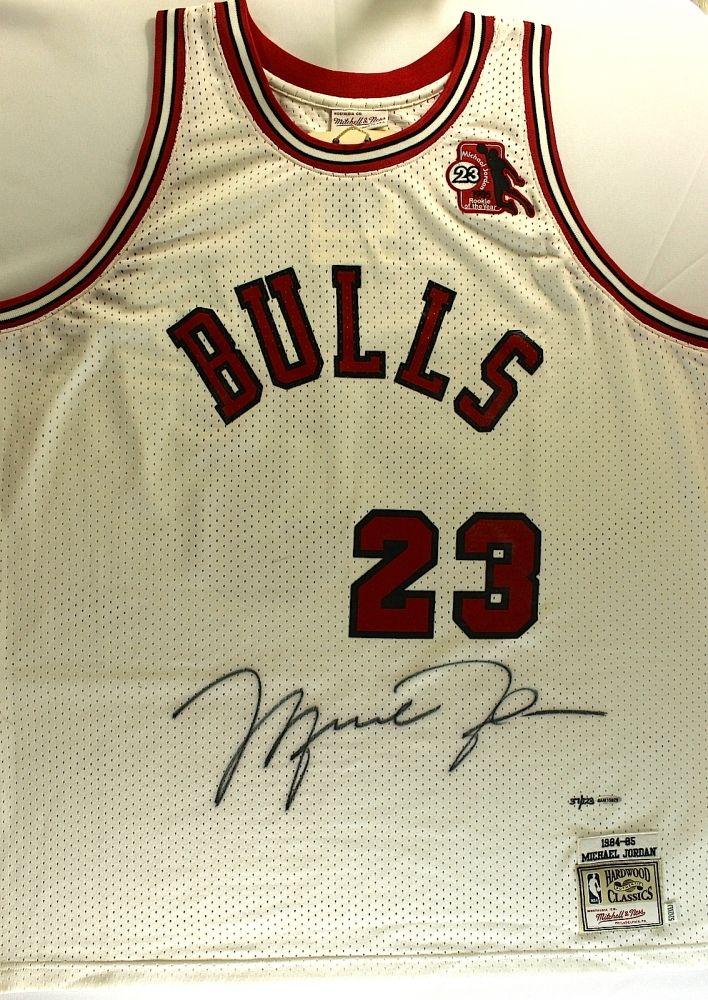 low priced 9c48d 0e3c7 Michael Jordan Signed Bulls Authentic Mitchell & Ness 1984 ...