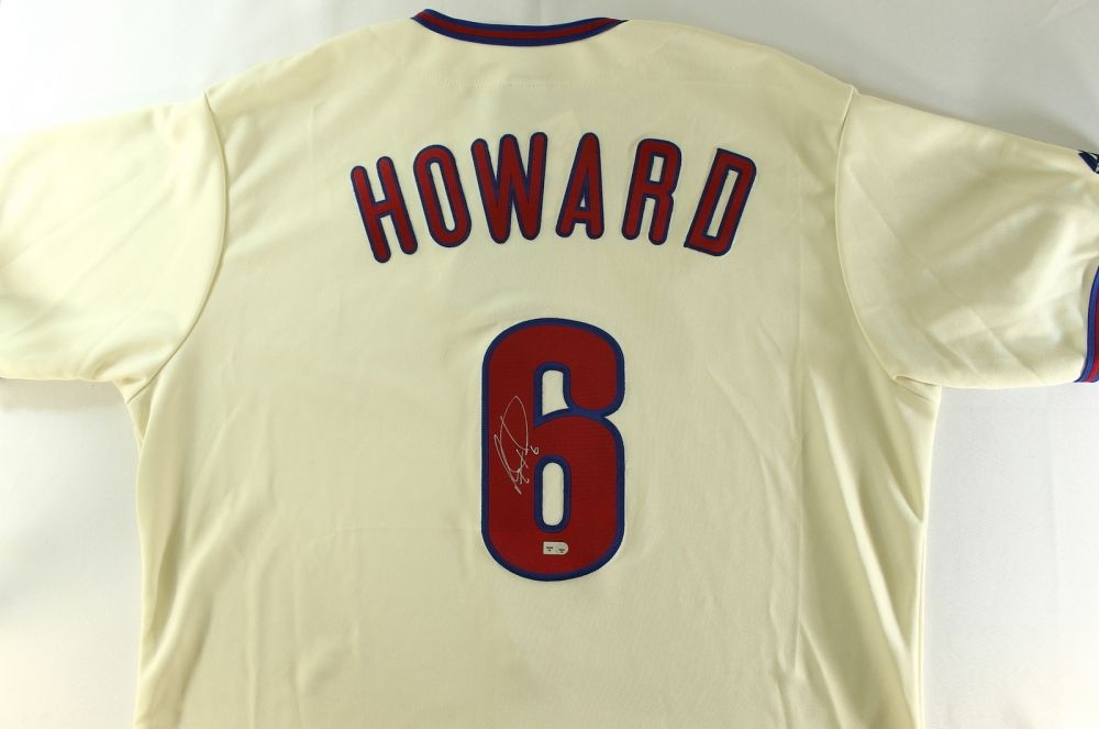best loved fd7a0 3839a Ryan Howard Signed Phillies Jersey (MLB)