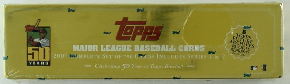 2001 Topps Gold Baseball Card Complete Set Of 790 Cards