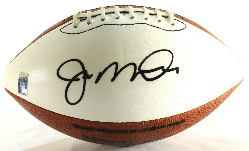 best deals on 2197f c3652 Joe Montana Signed White Panel Football (Montana ...