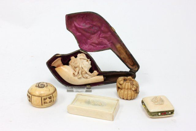 5 Carved Bone Pieces
