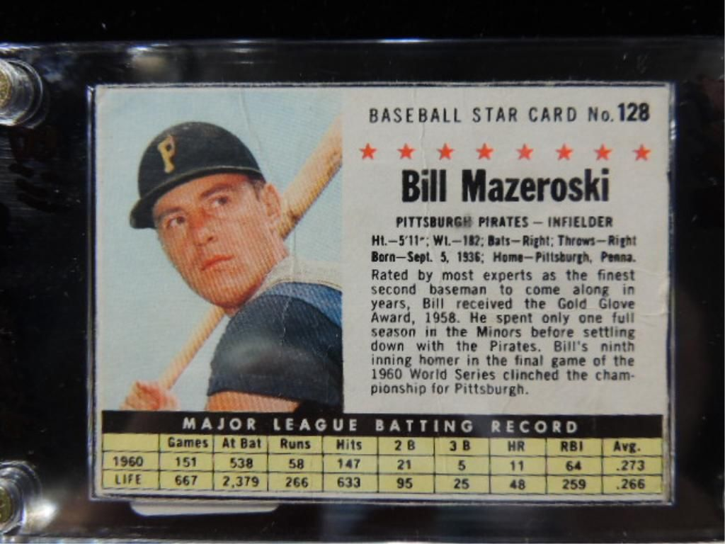 1961 Post Bill Mazeroski 128 Baseball Card