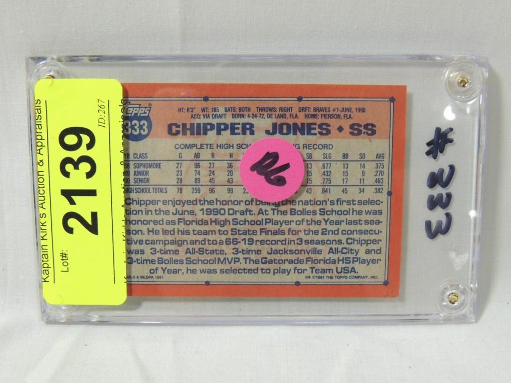 1991 Topps Chipper Jones 333 Rookie Card