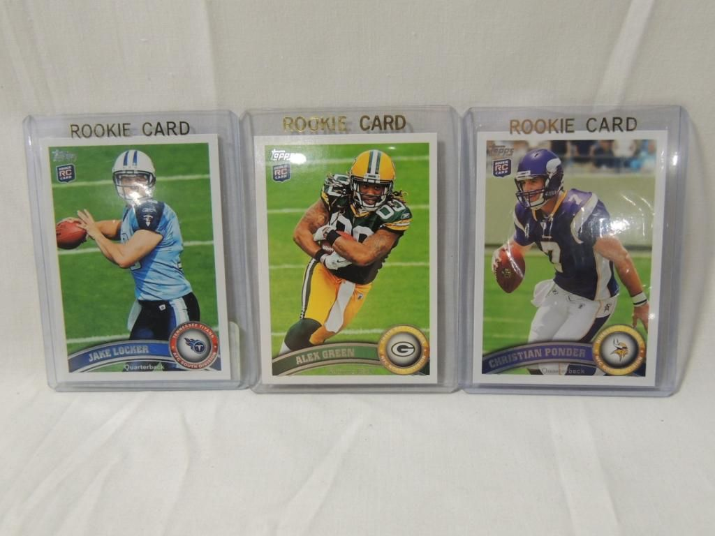 Lot 3 2011 Topps Football Player Rookie Cards