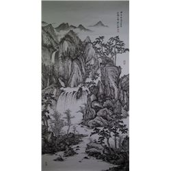 Chinese 20th C. Watercolour Landscape