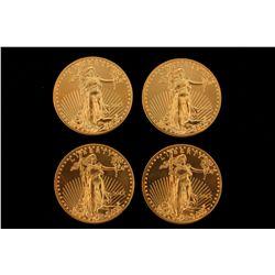 BULLION: [4] 2012 $50 1 oz American Gold Eagles. 135.9g.