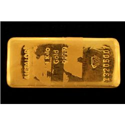 BULLION: [1] kilogram 9999 fine gold bar; Metalor Refinery; Bar Number 13205007.
