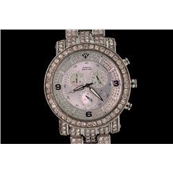WATCH: [1] Mens st.steel Aquamaster Power diamond chronograph wristwatch; 45.2mm round case; silver