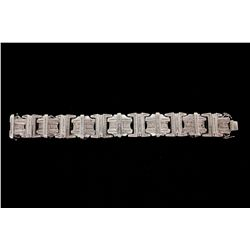 BRACELET:  [1] 14KWG bracelet by JPM set with 371 princess cut and 287 round cut diamonds, approx. 1