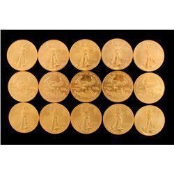 COINS: [15] $50 American Eagle gold coins, 1 oz, 2004.