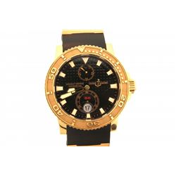 WATCH:  [1] 18KRG gents Ulysse Nardin Maxi Marine Diver Model, Marine Chronometer, model #266-33, se