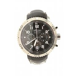 WATCH: [1] Gent's Breguet Type XXI Transatlantic Flyback chronograph wristwatch, stainless steel clo