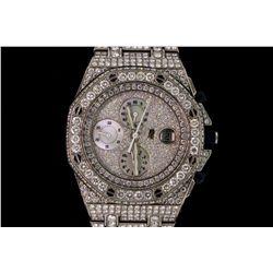 WATCH: [1] Gents Audemars Piguet Royal Oak Offshore dia and stainless steel wristwatch. Custom dia b