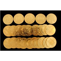 COINS: [25] Austrian 2000 Schilling Vienna Philharmonics, 1 oz AGW.
