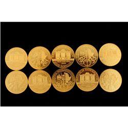 COINS: [10] Austrian 2000 Schilling Vienna Philharmonics, Net weight 1 Troy oz, .999 fine gold.