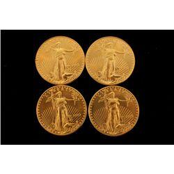 COINS: [4] $50 American Eagle gold coins, 1 oz, 1993.