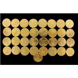COINS: [33] $50 American Eagle gold coins, 1 oz, 1986.
