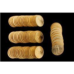 COINS: [72] $50 American Eagle gold coins, 1 oz, 2001.
