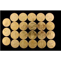 COINS: [23]  $50 American Eagle gold coins, 1 oz, 1998.