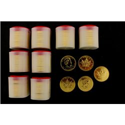 COINS: [85] $50 Canadian Maple Leaf gold coins, .9999, 1 Troy oz, 2004.