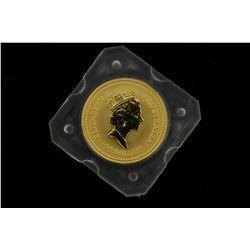 COIN: [1] $100 Australian Nugget gold coin, .9999, 1 Troy oz, 1991.