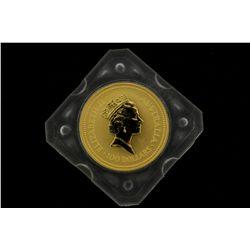 COIN: [1] $100 Australian Nugget gold coin, .9999, 1 Troy oz, 1993.