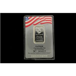 BULLION: [1]  Engelhard .9995 platinum, 1 Troy oz ingot.