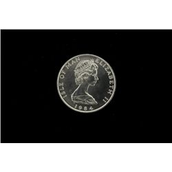 BULLION: [1]  Isle of Man platinum, 1 Troy oz noble coin, 1984.