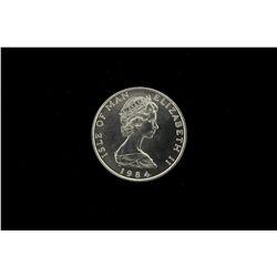 BULLION: [1]  Isle of Man platinum, 1 Troy oz noble coin, 1984.