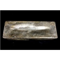 BULLION: [1] Johnson Matthey 974.10 Troy oz, .999 silver bar, 2003.