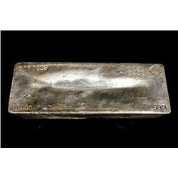 BULLION: [1] Johnson Matthey 974.10 Troy oz, .999 silver bar, 2003.