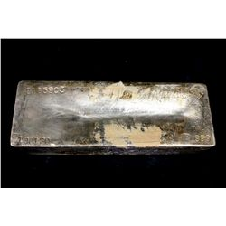 BULLION: [1] Johnson Matthey 1001.20 Troy oz, .999 silver bar, 2003.
