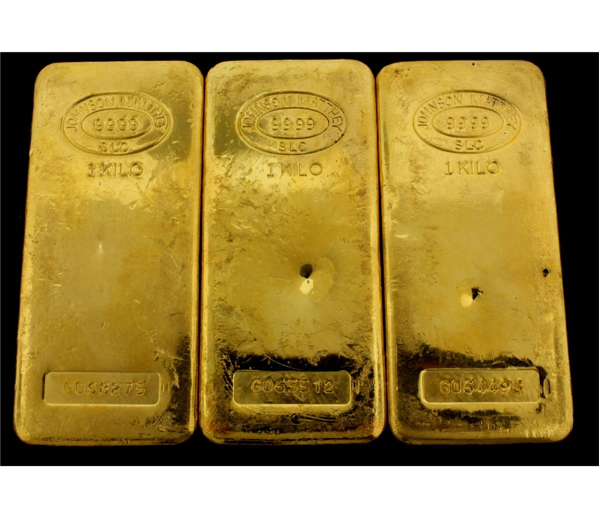 Bullion 3 One Kilogram Johnson Matthey 9999 Fine Gold