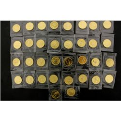COINS: [34] $10 Canadian Maple Leaf gold coins, .9999, 1/4 Troy oz, 1984.