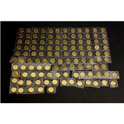 COINS: [28] $5 Canadian Maple Leaf gold coins, .9999, 1/10 Troy oz, 1982.COINS: [90] $5 Canadian Map