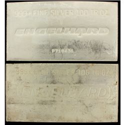 BULLION: [1] 100 oz. Engelhard 999+ Fine Silver bar. 3114 g. P476087.BULLION: [1] 100 oz. Engelhard