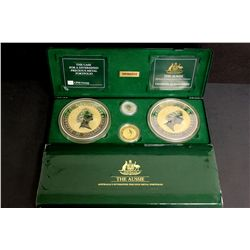 COINS: [1] The Aussie: Australia's Diversified Precious Metal Portfolio, Containing: 2- 1 kilogram .
