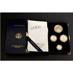 COINS:  [1]  Boxed American Eagle gold bullion proof set; Contains 1- U.S. $50 1 oz gold coin, 1- U.