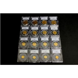 COINS: [4] $5 American Eagle gold coins, 1/10 oz, slabbed and graded PCGS MS69, 1999.COINS: [4] $10