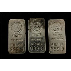 BULLION: [1]  Consolidated Mines and Metals 10.22 Troy oz .999 silver ingot.BULLION: [1]  Consolidat