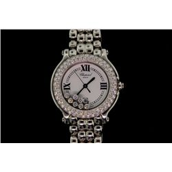 WATCH: [1] Ladies  Chopard Happy Sport dia wristwatch with stainless case 32mm diameter. Double row