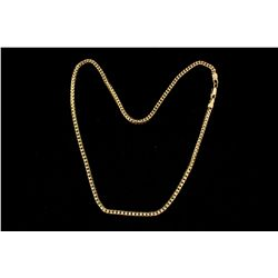 CHAIN: [1] Unisex 14ky anaconda link chain necklace; 3.08mmW x 3.11mmT x 18.6  long; 31.68 grams.