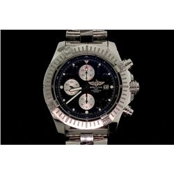 WATCH: [1] Gents stainless steel Brietling Super Avenger Chronograph wristwatch, 50mm diameter, rota