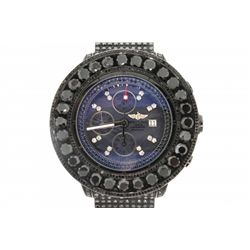 WATCH: [1] Gents Breitling 1884 Super Avenger black coated stainless steel  with custom diamond wris